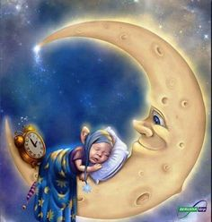 Voor my ogies toeval wil ek net gou Nag sê Sun Moon Stars, My Sun And Stars, Good Night Sweet Dreams, Good Night Moon, Night Night, Moon Illustration, Moon Pictures, Photo D Art, Paper Moon