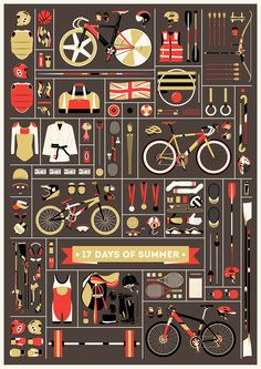 Jordon Cheung celebrates the 2012 Olympics with his '17 Days of Summer' poster via @thefoxisblack