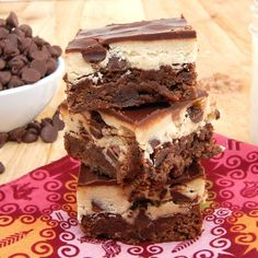 chocolate cookie dough brownies.. aka crack brownies- im going to make these in mini muffin tines next so they look prettier to serve