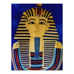 King Tut Tutankhamun Ancient Egypt Art Print print