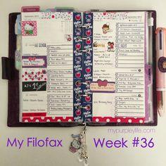 [Filofax] My Filofax Week # 36 | My Purpley Life