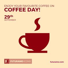 Enjoy your favourite  coffee on Coffee Day! All icons used in the series are available in our App. Imagine what YOU could create with them! Check out our FUTURAMO ICONS – a perfect tool for designers & developers on futuramo.com #futuramo #futuramoapps #futuramoicons #futuramocalendar #icondesign #icons #iconsystem #freeicons #pixel #pixels #pixelperfect #flatdesign #ux #ui #uidesign #design #developer #developers #webdesign #app #appdesign