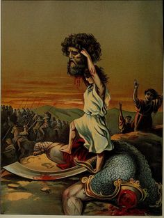 Sweet stories of God; in the language of childhood and the beautiful delineations of sacred art Dibujos Dark, Ireland Places To Visit, Quick View Bible, Nephilim Giants, Bible Illustrations, David And Goliath, Bible Pictures, King David, Jesus Art