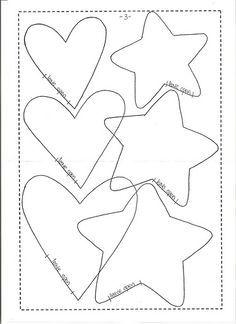 Ceci EuQfiz molde de estrela e coração