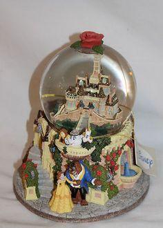 Disney Beauty and the Beast Snowglobe Castle