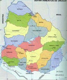 URUGUAY , Los departamentos y su Historia , muy bueno +++