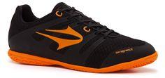 2015 Chuteira Topper Letra futsal preta/laranja