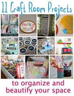 11 Craft Room Projects to Organize and Beautify Your Space - @CraftBits & CraftGossip