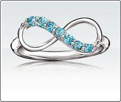 Blue Topaz Infinity Ring