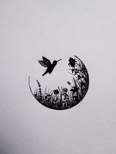 Drawing Flowers & Mandala in Ink Cool Art Drawings, Pencil Art Drawings, Art Drawings Sketches, Easy Drawings, Mandala Drawing, Drawing Flowers, Stylo Art, Hummingbird Art, Pen Art
