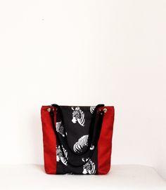 Energetyczna torba xl z zamszu Zebry w UniQueBags na DaWanda.com