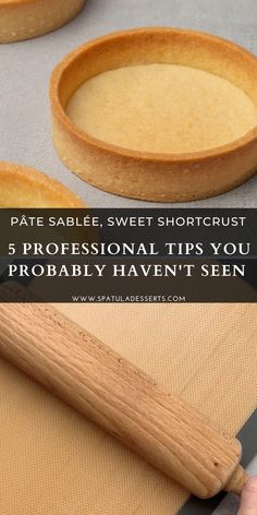 Bakery Recipes, Dessert Recipes, Cooking Recipes, Fruit Tart Recipes, Easy Fruit Tart Recipe, Tart Crust Recipe, Baking Basics, Baking Tips, Shortcrust Pastry