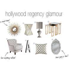 Hollywood regency glamour.