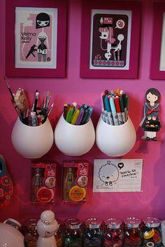 craftroom inspiration #craftroom #workspace #inspiration #pink