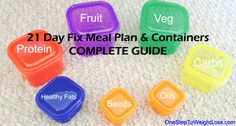 Learn more about the 21 Day Fix meal plan & containers. This new diet plan will get you fast weight loss without starvation. GET ALL THE DETAILS HERE...