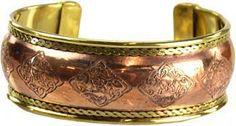 Celtic Engraved Copper and Brass bracelet