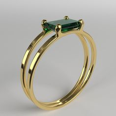 Emerald Double Ring - items for sale # . - Emerald Double Ring – items for sale # - Gold Rings Jewelry, Diamond Jewelry, Jewelery, Silver Rings, Jewellery Box, Prom Jewelry, Jewellery Shops, Wedding Jewelry, Gold Bracelets