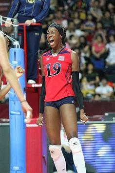 2012 U.S. Olympic Womens Volleyball Team - Destiny Hooker rocks it right!! Inspiration.