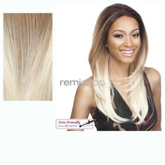 Remi Touch Lace RT11  - Color 2T27/613 - Synthetic (Curling Iron Safe) Regular Lace Front Wig