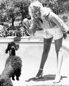 Betty Grable & Poodle,...