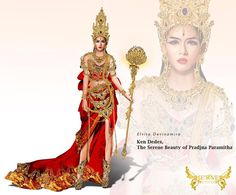 ken dedes,,,the serenae beauty of Pradjna Paramitha  .... #fashionsketch #fashionillustration #fashionillustrator #nationalcostume #kendedes #fashion #instagood #instalike