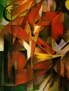 Foxes   1913 (140 Kb); Oil on canvas  87 x 65 cm; Kunstmuseum, Dusseldorf     http://www.ibiblio.org/wm/paint/auth/marc/