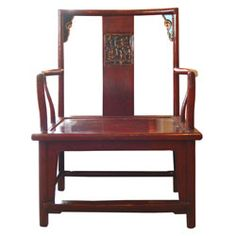 Antique Red Chinese Chair