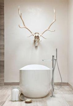 Geweih-Deko im klassischen Alpenstil-einzigartige Artikel-Badezimmer