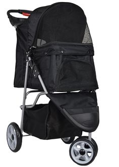 VIVO Three Wheel Pet Stroller, for Cat, Dog and More, Foldable Carrier Strolling Cart, Multiple Colors: Black, Pink, Red, Green, Camo, Purple * Visit the image link more details. (This is an affiliate link and I receive a commission for the sales) #Doggies
