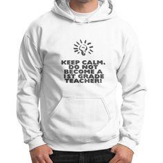 Keep Calm - 1st Grade Teacher - Gildan Hoodie (on man)