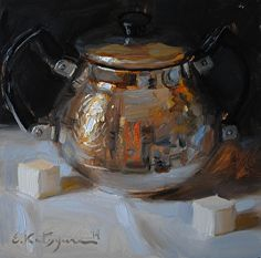 Regal Bowl by Elena Katsyura Oil ~ 6 x 6