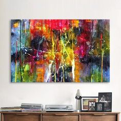 QKART Abstract Painting Colorful Canvas Wall Pictures for Living Room Office Bedroom Modern Canvas Oil Painting Frames For Canvas Paintings, Abstract Canvas Wall Art, Abstract Oil, Wall Canvas, Oil Painting On Canvas, Canvas Frame, Big Canvas, Oil Paintings, Reproductions Murales