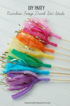 DIY:: Fringe Stir Sticks