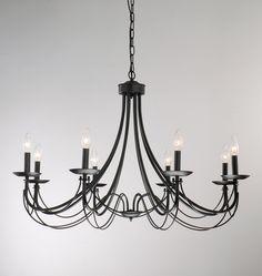 Iron 8-light Black Chandelier - Overstock Shopping - Great Deals on Otis Designs Chandeliers & Pendants