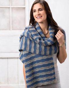 Shawl Patterns, Knitting Patterns, Creative Knitting, Knit Art, Wrap Pattern, Garter Stitch, Shawls And Wraps, Free Knitting, Knit Crochet