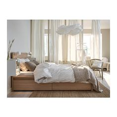 "Bett Malm Ikea Best Of Bett ""malm"" Von Ikea Bild 12 [living at Home] Oak Bedroom, Bedroom Wall, Master Bedroom, Bedroom Decor, Bedroom Ideas, Bedroom Curtains, Ikea Bedroom Sets, Tall Curtains, Ikea Bedroom Furniture"