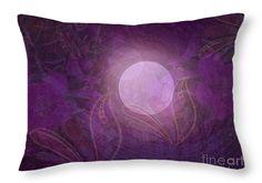 "Purple Moon Throw Pillow 20"" x 14"""