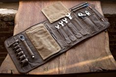 PRE-SALE THE ORIGINAL TOOL BOOK ™ (Sage Waxed Cotton & Leather Motorcycle Tool…