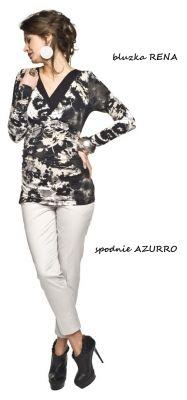 Spodnie ciążowe Azurro/Maternity trousers http://maternity.com.pl/pl/p/Spodnie-ciazowe-Azurro-Biale/1227