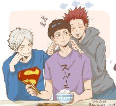 Semi, Goshiki, and Tendou