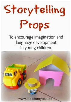 Make your own props and use toys to set up a storytelling activity for your toddler or preschooler! #creativeplay #imaginativeplay  - repinned by @PediaStaff – Please Visit ht.ly/63sNtfor all our pediatric therapy pins