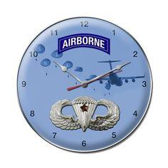 Combat Jump Wings Clock