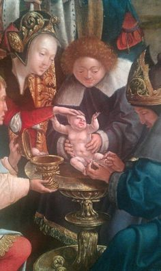 """Ugly Renaissance Babies: """"Just a little off the top and taper the sides, please."""""""