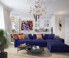 Inna Azorskaya Luxury, elegant and beautiful living room with purple sofa. Best top famous luxurious exclusive high-end Interior Designers   For more decor inspirations and decor ideas visit www.bessadesign.com . . . #exclusivedesign #homedecor #luxurydecor #homedesign #luxuryinteriors #luxuryhomes #contemporarydesign #contemporaryfurniture #interiorstyling #interiorproject #bessadesign #decorationideas #interiordecorating #designhome #decorlovers #interiorinspo #interiorstyling…