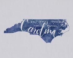 I've gone to Carolina in my mind. -James Taylor