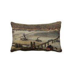 Vintage Pictorial Map of Louisville (1876) Pillows from Zazzle.com $52.00