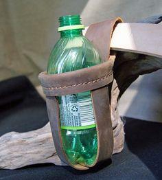 Leather Drink Holder  Handmade  Genuine leather  by CrawdadLeather