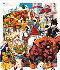 Taleen's World Fairy Tail Happy, Fairy Tail Gray, Fairy Tail Natsu And Lucy, Fairy Tail Family, Fairy Tail Nalu, Fairy Tail Ships, Manga Illustration, Illustrations, Fairy Tail Symbol