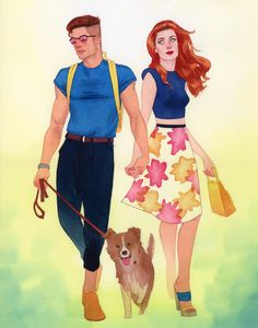 Scott Summers and Jean Grey 90s Fashionization - Kevin Wada