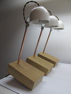 Wood Brick Lamp.